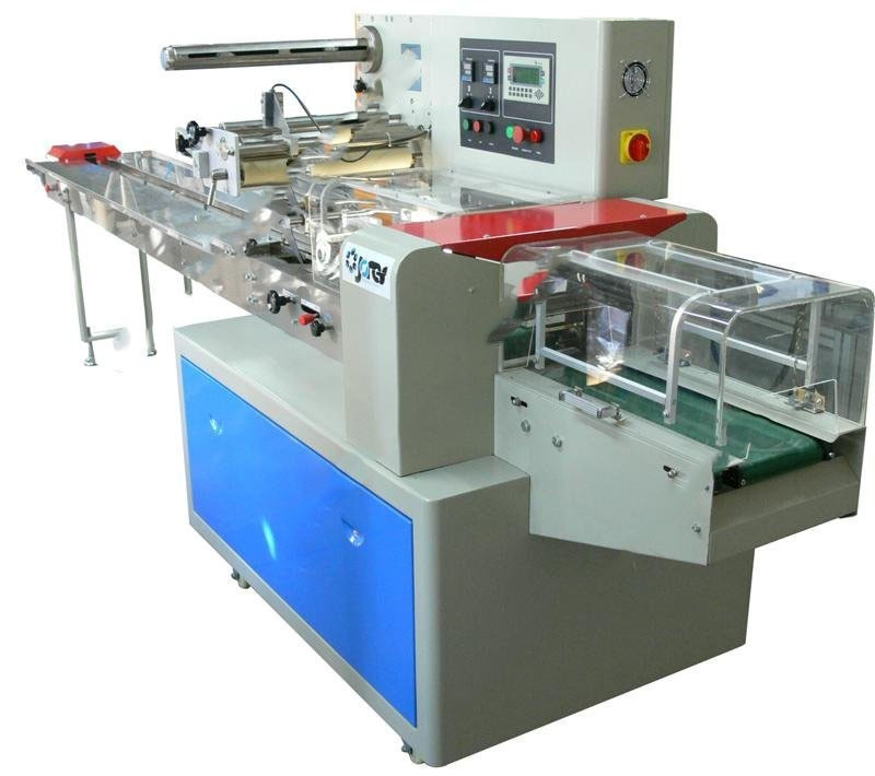 Empaquetadora automática de envoltura de flujo horizontal - 450 mm - Modelo - E-FW-450