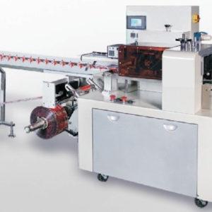 Empaquetadora automática de envoltura de flujo horizontal invertida - 300 mm - Modelo - E-FWI-3000