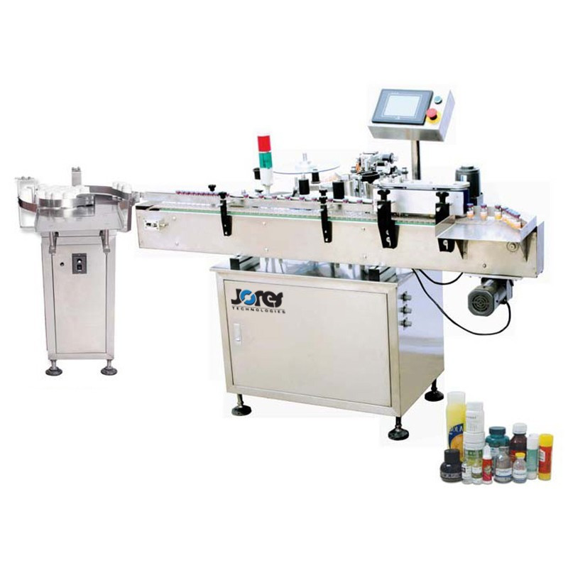 Máquina etiquetadora automática - Aplicador de etiquetas para contenedores redondos - Modelo OMICRON-1-LABELER