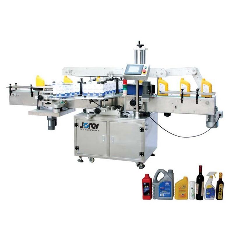 Máquina etiquetadora automática - Aplicador doble de etiquetas para envases planos / redondos - Modelo OMICRON-2-LABELER