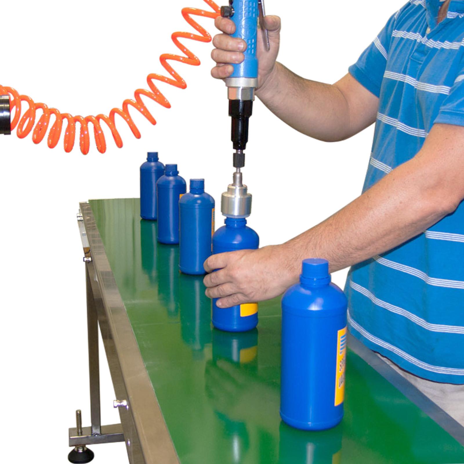 Máquina tapadora manual de botellas neumática - Modelo - CAPPER-MANUAL
