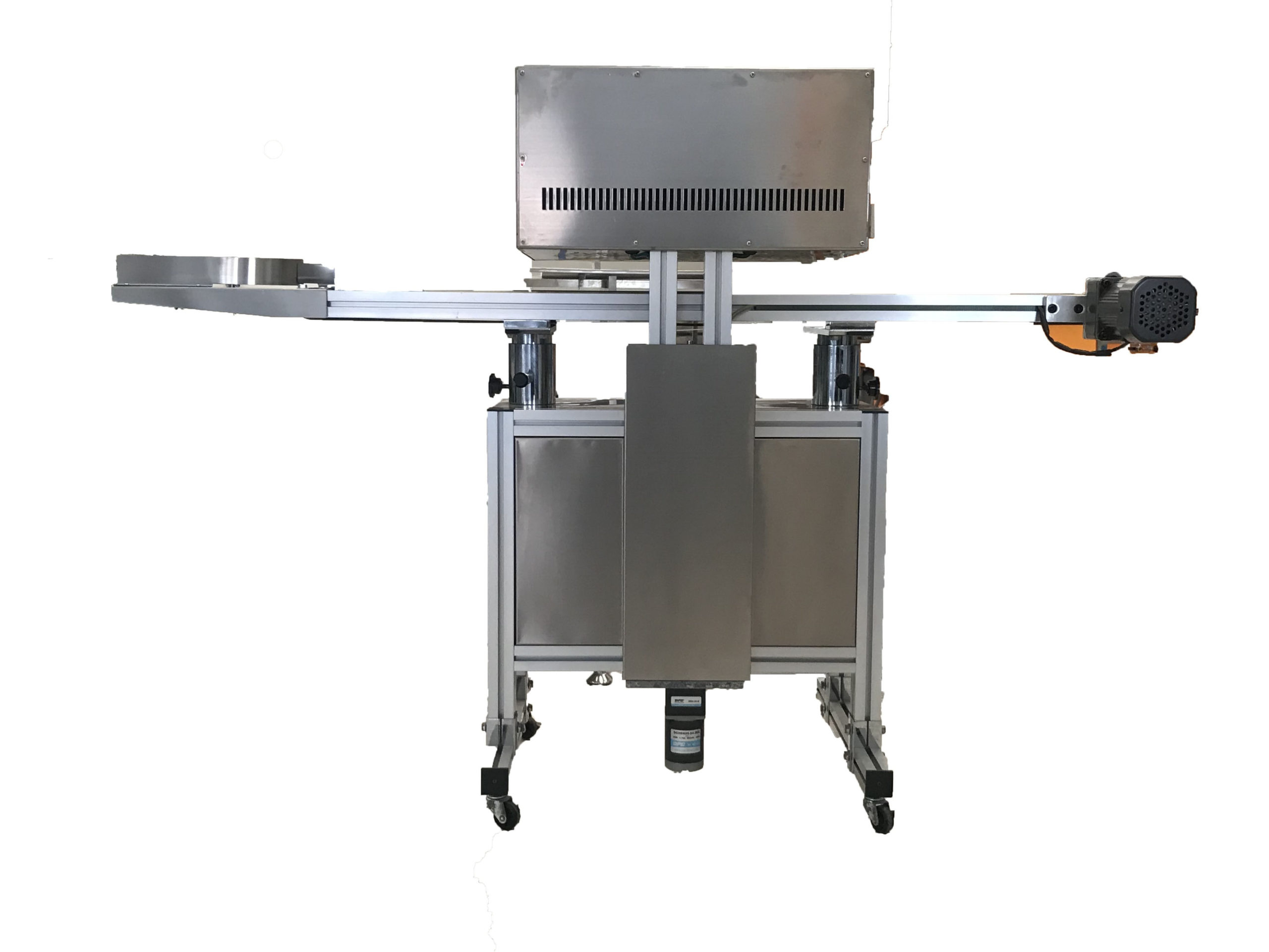 Sistema de sellado continuo de tapas de inducción con transportador de 20-130 mm - (Modelo -IND-2000-H)