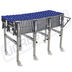 Transportador de rodillos de ruedas de patines de gravedad flexible - Modelo CONVEYOR-WHEEL